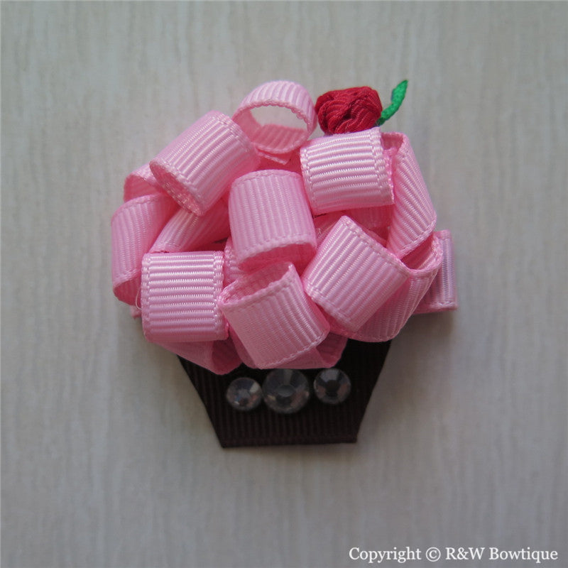 Cupcake #C Sculptured Hair Clip