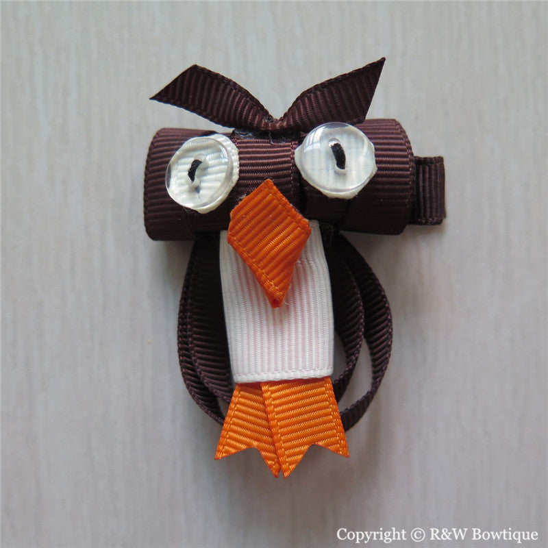 Owl #A Sculptured Hair Clip