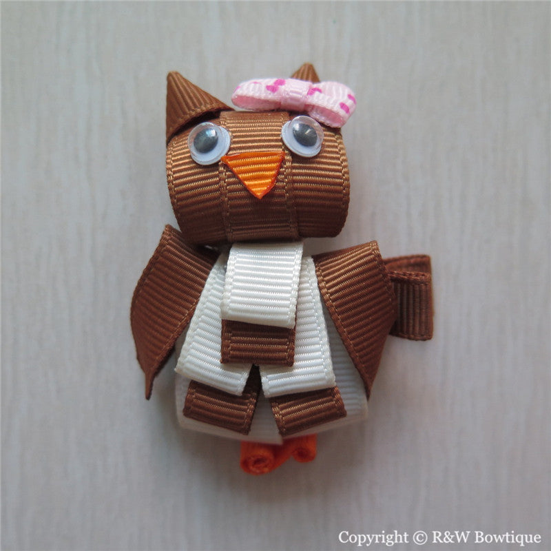 Owl #B Sculptured Hair Clip