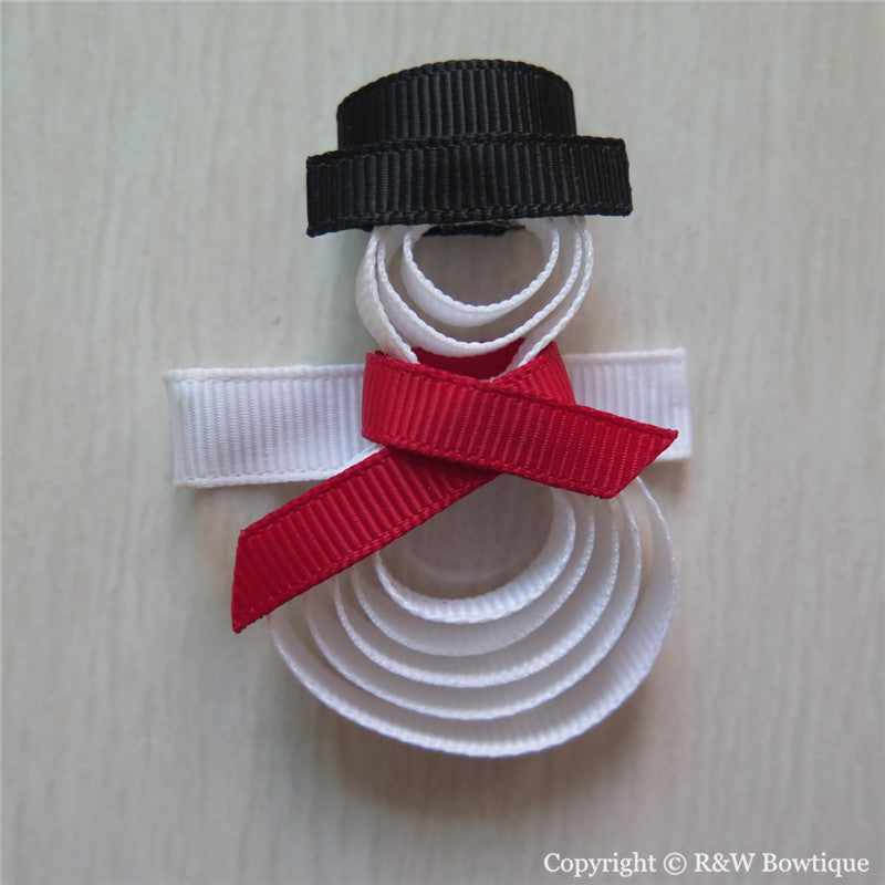 Snowman #A Sculptured Hair Clip