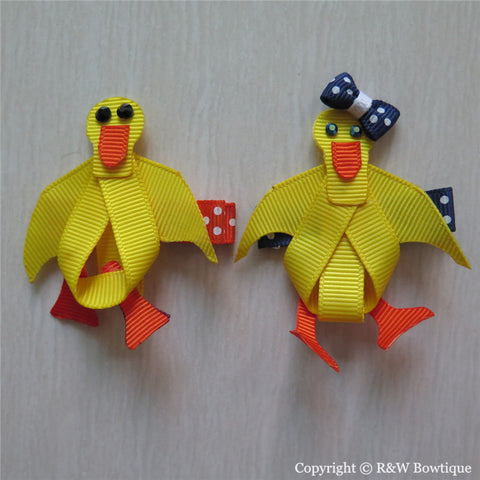 Duck Sculptured Hair Clip