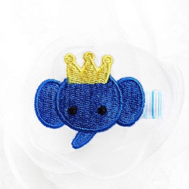 Felt & Embroidery - Elephant w/Crown