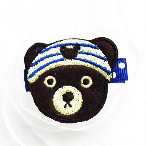 Felt & Embroidery - Bear w/Headwrap
