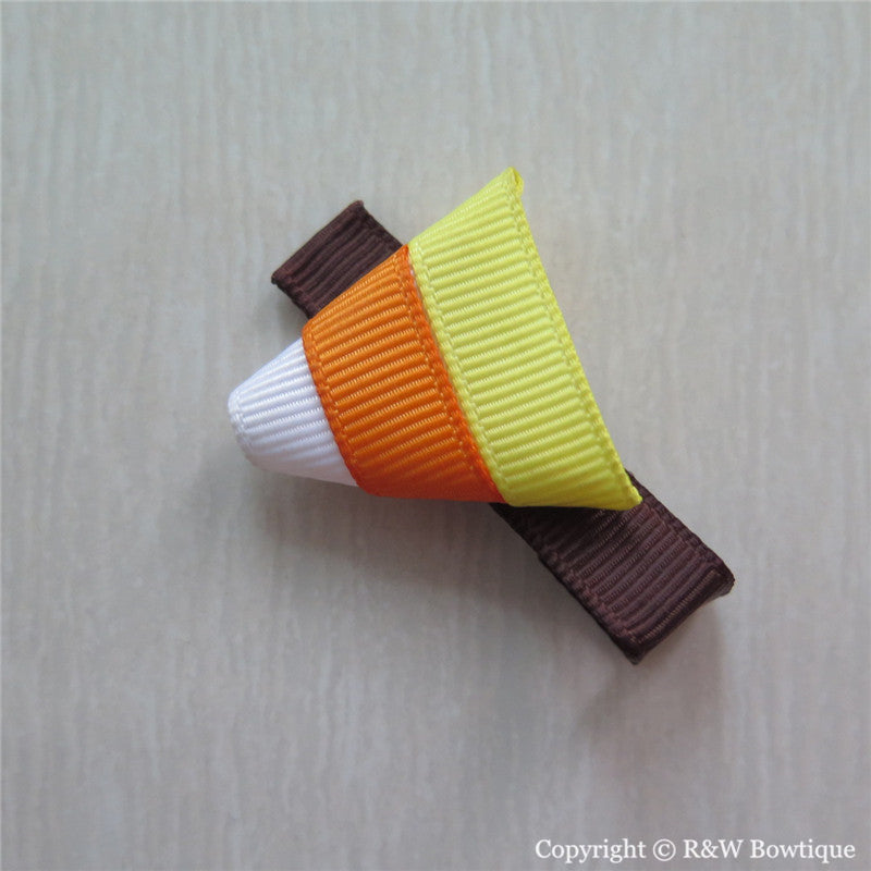 Candy Corn Sculptured Hair Clip