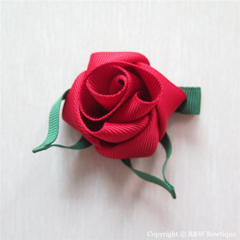 Rose Sculptured Hair Clip