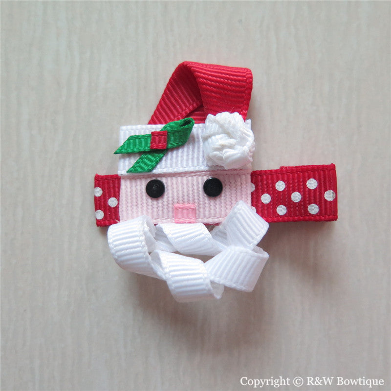 Santa Claus #A Sculptured Hair Clip
