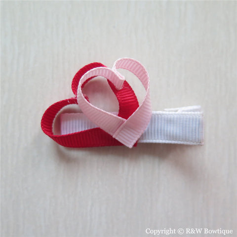 Valentine Heart #B Sculptured Hair Clip