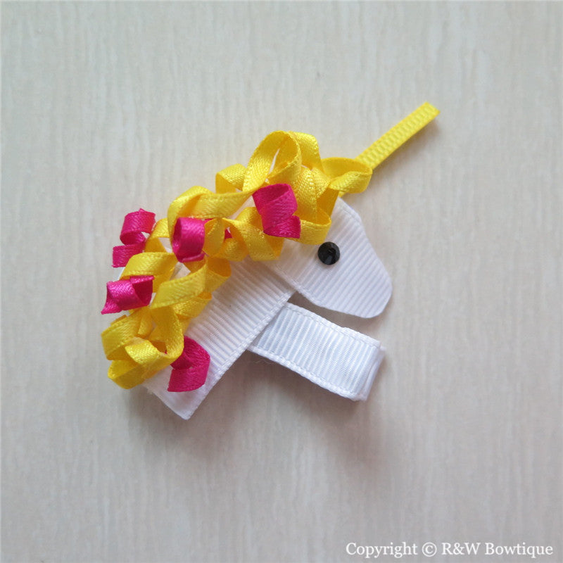 Unicorn #A Sculptured Hair Clip