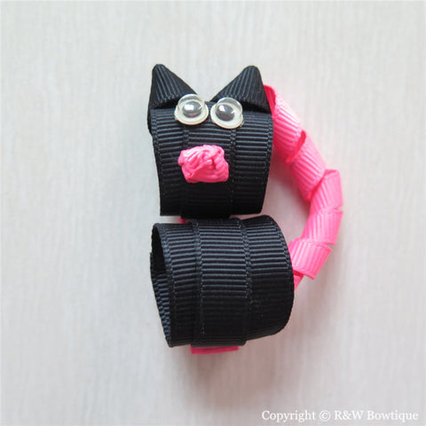 Black Cat Sculptured Hair Clip