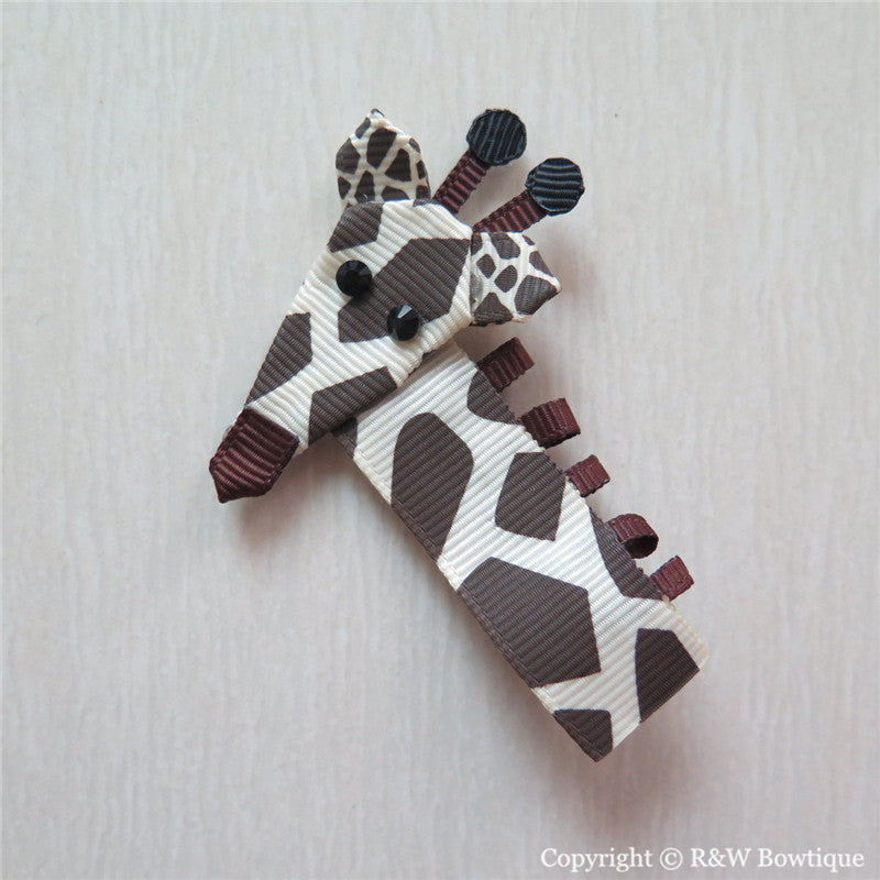 Giraffe Sculptured Hair Clip