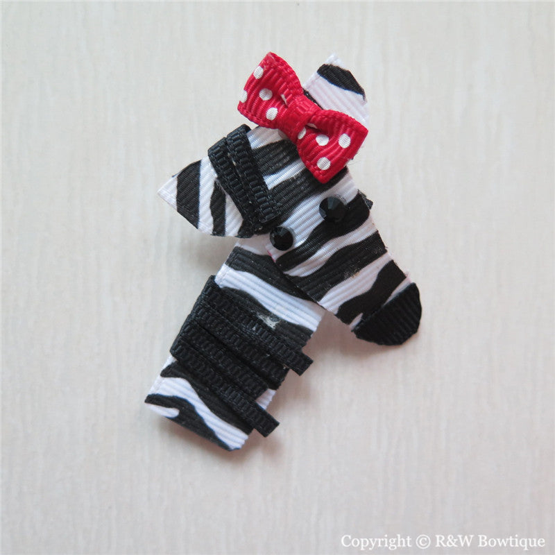 Zebra Sculptured Hair Clip