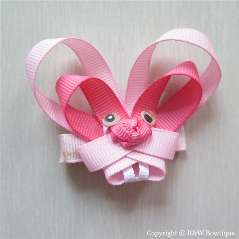 Easter Bunny #B Sculptured Hair Clip