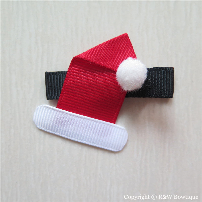 Santa Hat #A Sculptured Hair Clip
