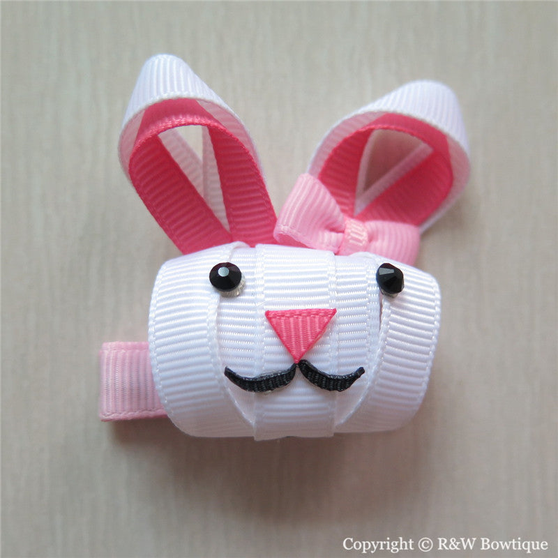 Easter Bunny #C Sculptured Hair Clip