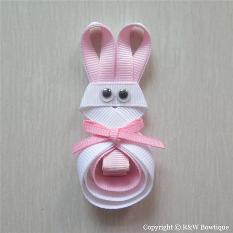 Easter Bunny #A Sculptured Hair Clip
