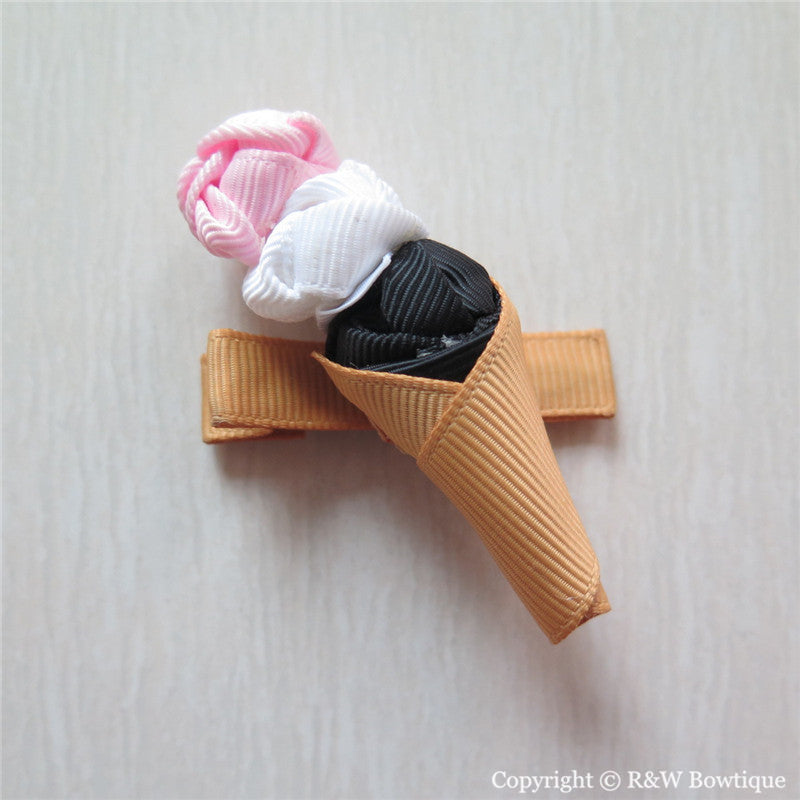 Ice Cream #A Sculptured Hair Clip