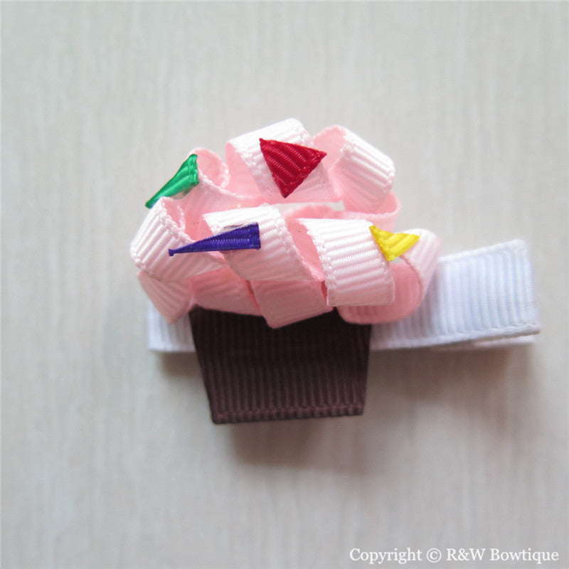 Cupcake #E Sculptured Hair Clip