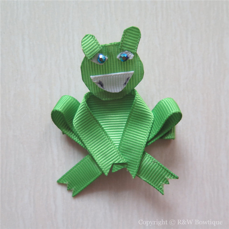 Frog #D Sculptured Hair Clip