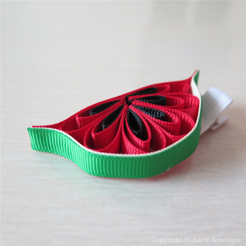 Watermelon #E Sculptured Hair Clip
