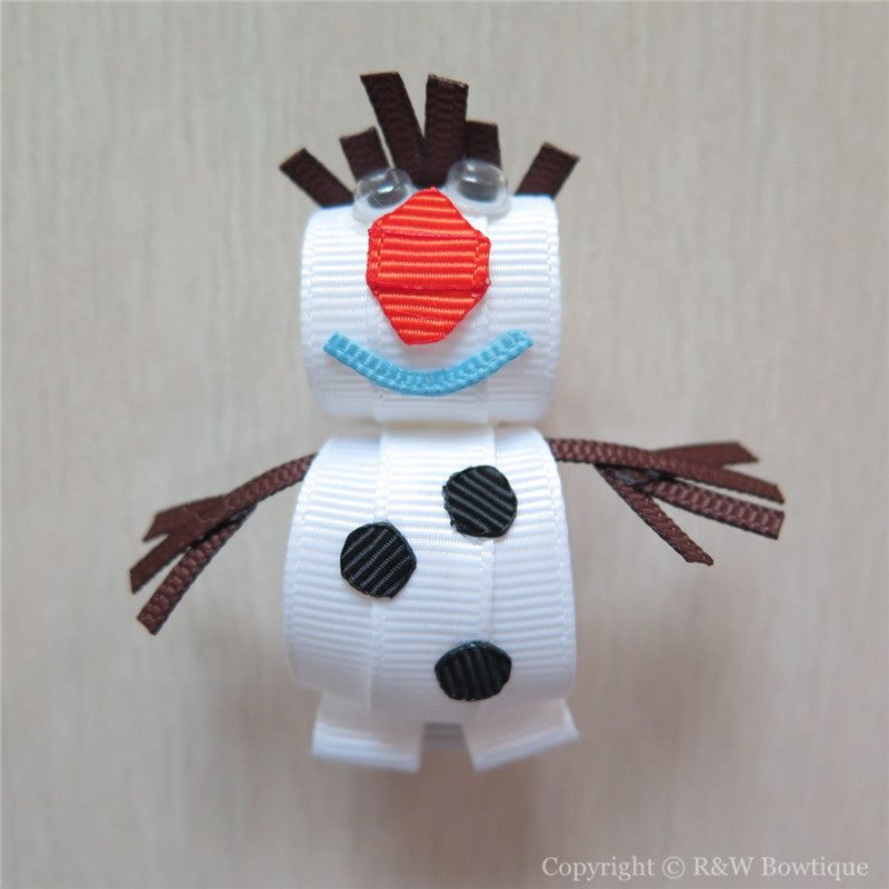 Frozen Olaf #C Sculptured Hair Clip