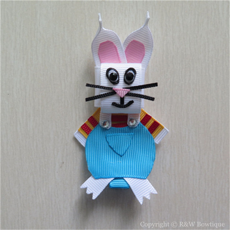 Easter Bunny #F Sculptured Hair Clip