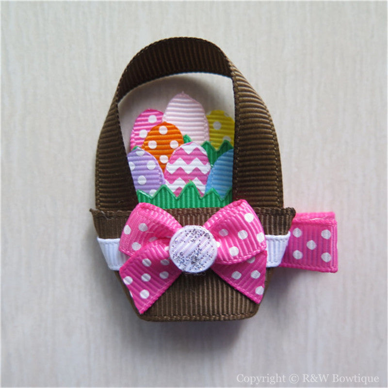 Easter Basket #D Sculptured Hair Clip