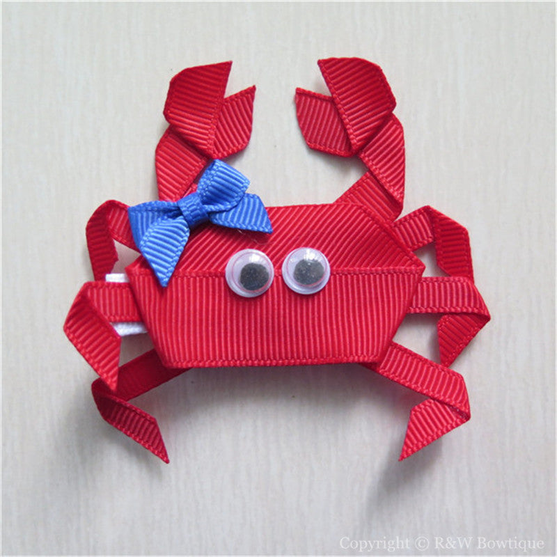 Crab #C Sculptured Hair Clip