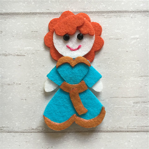 - Felt Princess Merida
