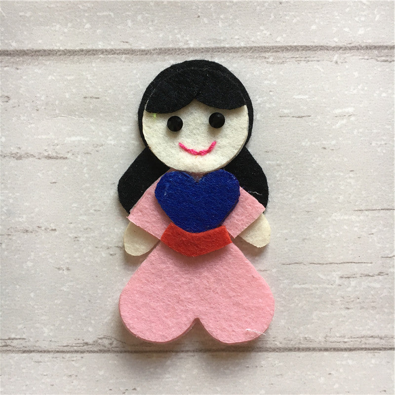 - Felt Princess Mulan