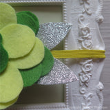 Disney Fairy Tinkerbell Inspired Felt Flower Crown Headband