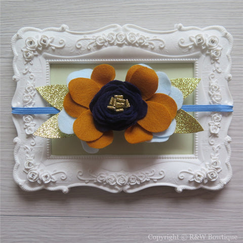 Golden Bluebell Felt Flower Crown Headband