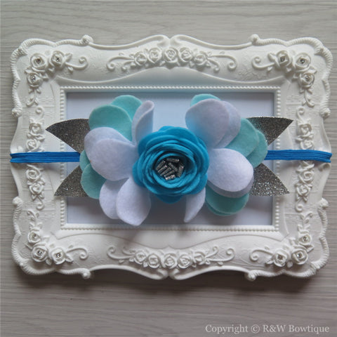 Disney Princess Elsa Inspired Felt Flower Crown Headband