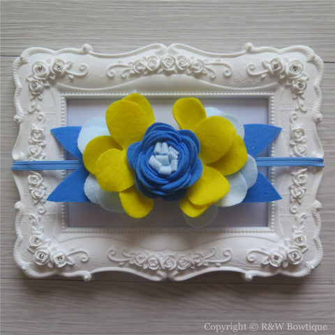 Disney Princess Cinderella Inspired Felt Flower Crown Headband