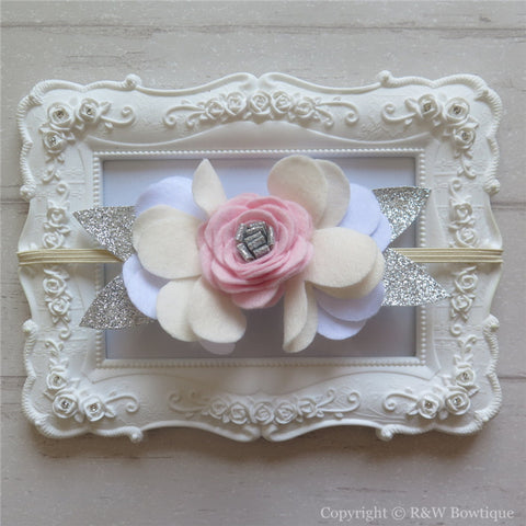Lili Felt Flower Crown Headband