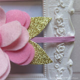 Pink and Gold Felt Flower Crown Headband