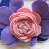 Disney Princess Mulan Inspired Felt Flower Crown Headband