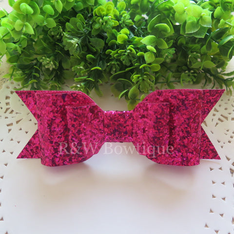 Azalea Glitter Fabric Oversize Hair Bow