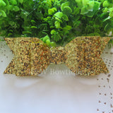 Bright Gold Glitter Fabric Oversize Hair Bow