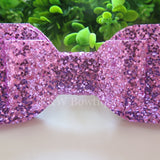 Lilac Glitter Fabric Oversize Hair Bow