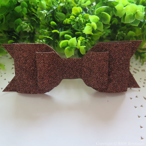 Brown Shimmery Oversize Hair Bow