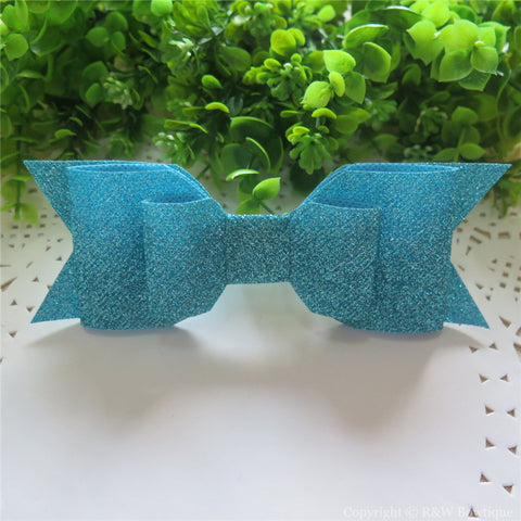 Turquoise Shimmery Oversize Hair Bow