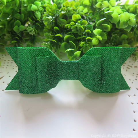 Emerald Shimmery Oversize Hair Bow