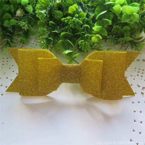 Yellow Shimmery Oversize Hair Bow