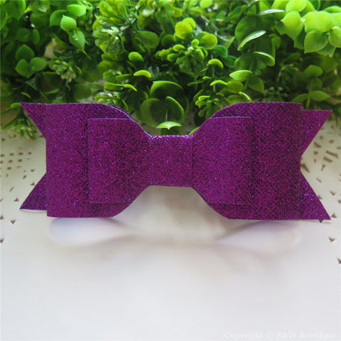 Purple Shimmery Oversize Hair Bow