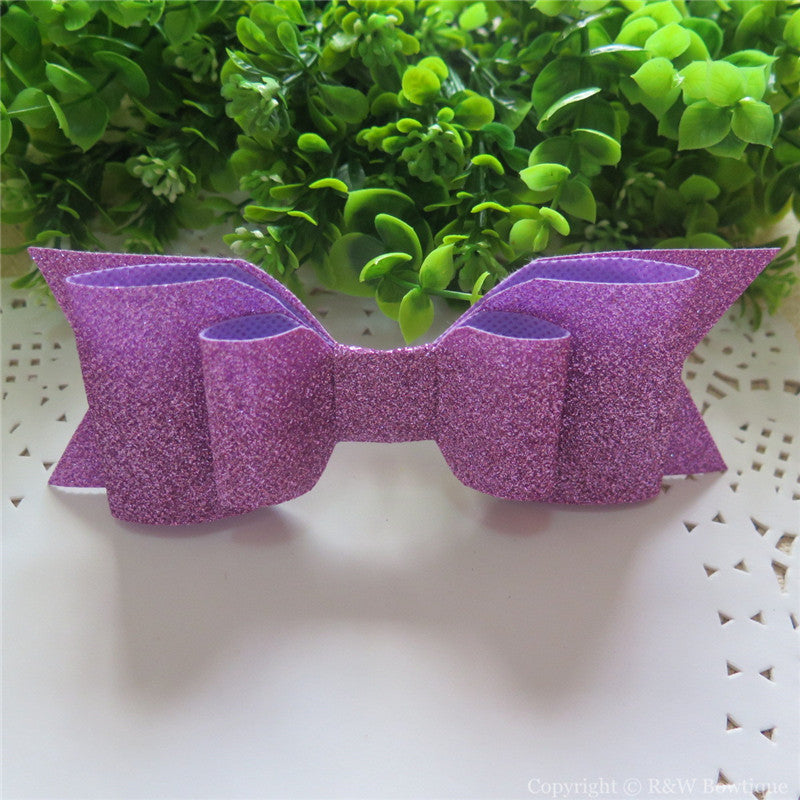 Lilac Shimmery Oversize Hair Bow