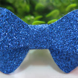 Royal Blue Thin Glitter Felt Mini Hair Bow