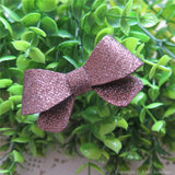 Brown Thin Glitter Felt Mini Hair Bow