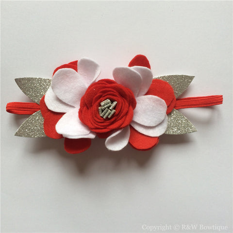 Candy Can Felt Flower Crown Headband