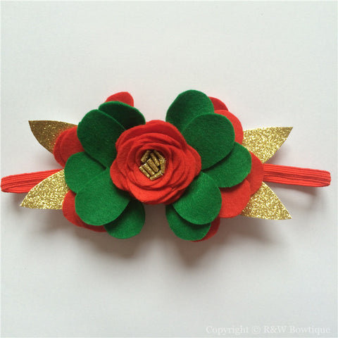 Christmas #A Felt Flower Crown Headband