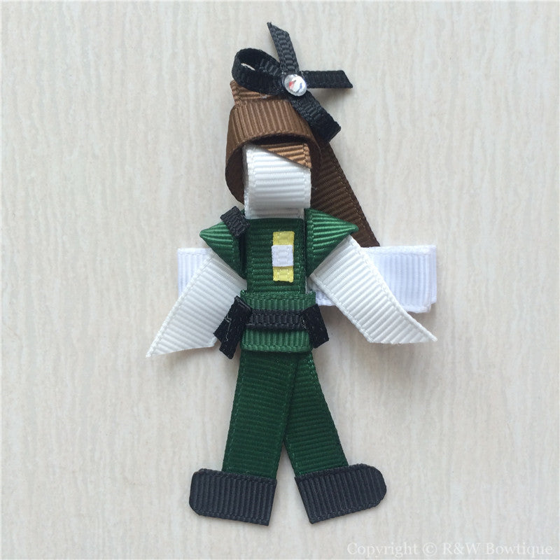 Border Patrol Sculptured Hair Clip